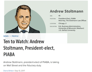 Article: Ten Watch Andrew Stoltmann President Elect PIABA