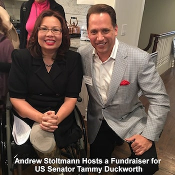 Tammy Duckworth and Andrew Stoltmann